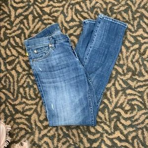 7 for all man kind Lt Wash Straight Jeans